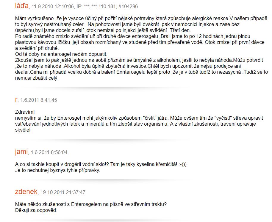 Enterosgel - recenzie