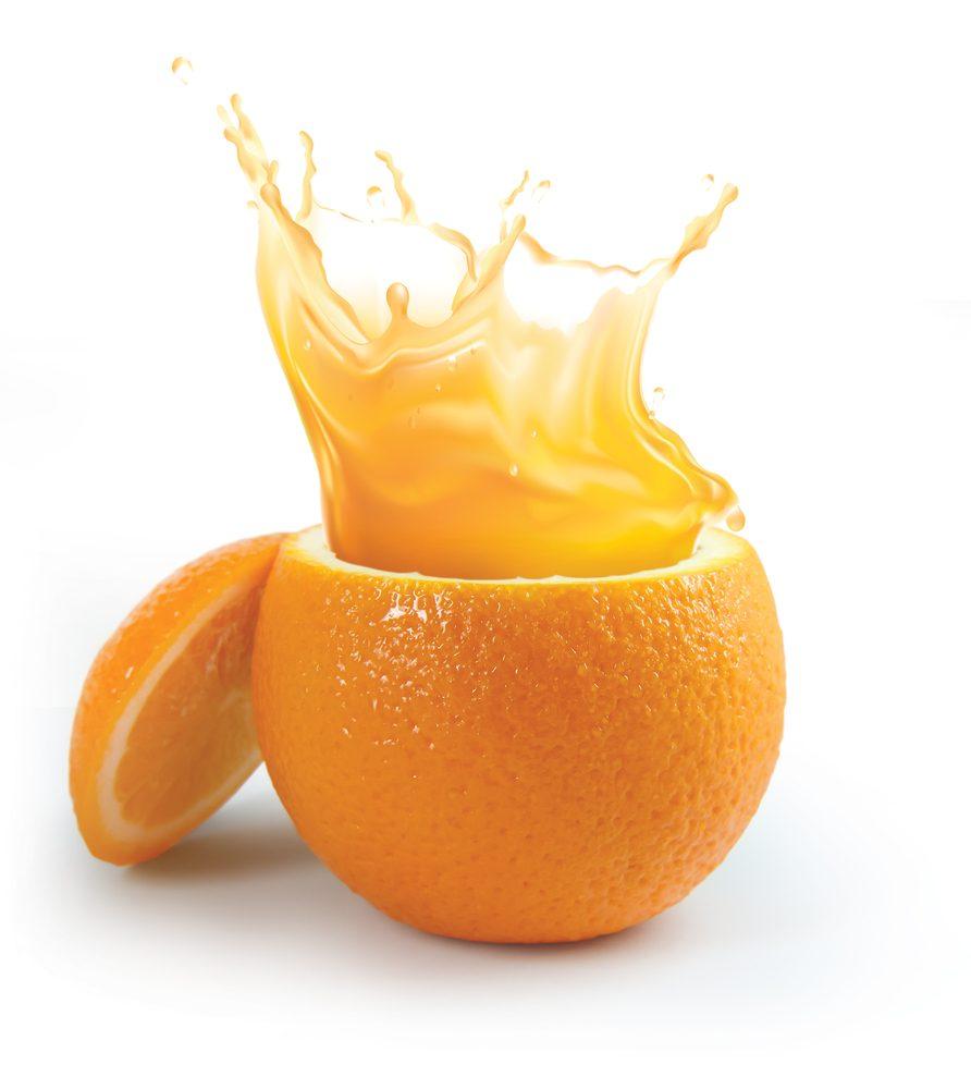 Pomarančová šťava - zdroj vitamínu B9
