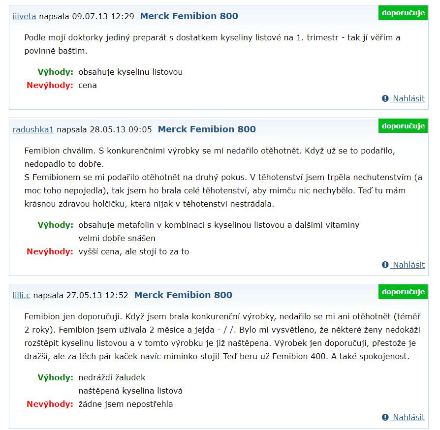 Femibion - recenzie