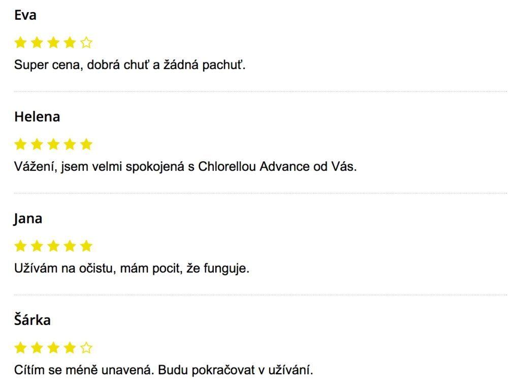 Chlorella ADVANCE - skúsenosti