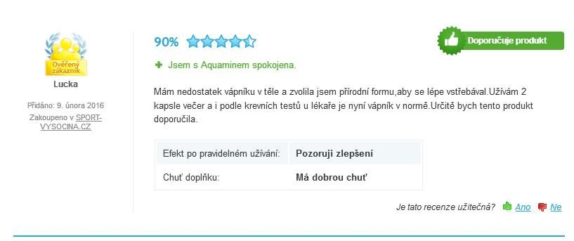 Aquamin – Vápnik 350mg tablety Benevit recenzia