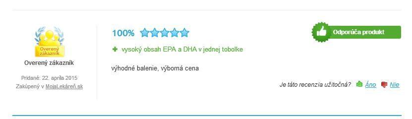 Fish Oil Omega 3 Forte 1000mg 30 kapsúl hodnotenie