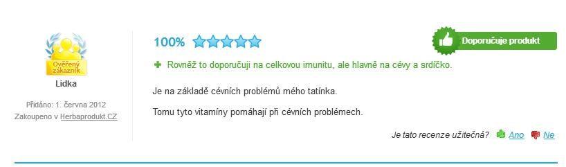 Cordyceps Tiens hodnotenie
