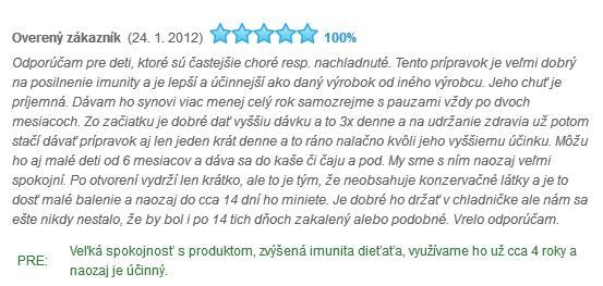 Echinacea detský sirup hodnotenie a skúsenosti