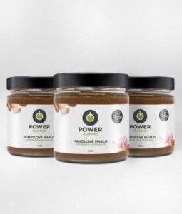 Mandľové maslo Powerlogy triple pack