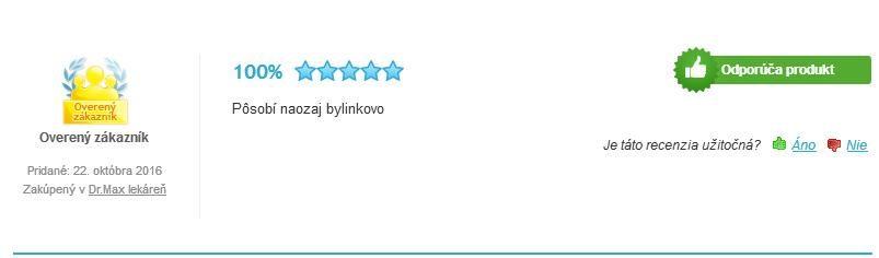 Švédske kvapky Hanus hodnotenie