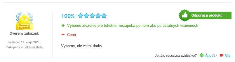 Femibion 2 hodnotenie