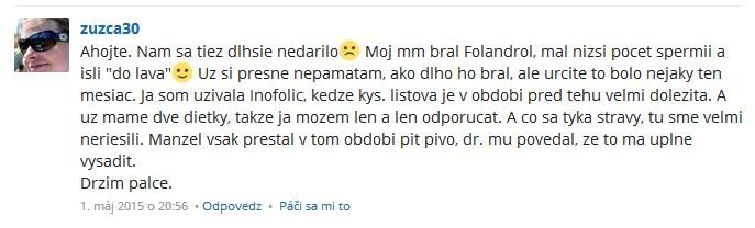 Folandrol a Inofolic hodnotenie