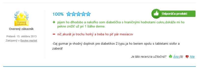 gurmar čaj pre diabetikov skúsenosti