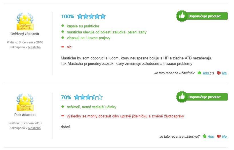 Masticha Active hodnotenie