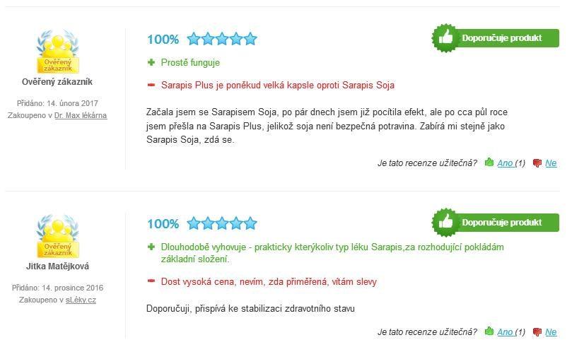 Sarapis Plus skúsenosti