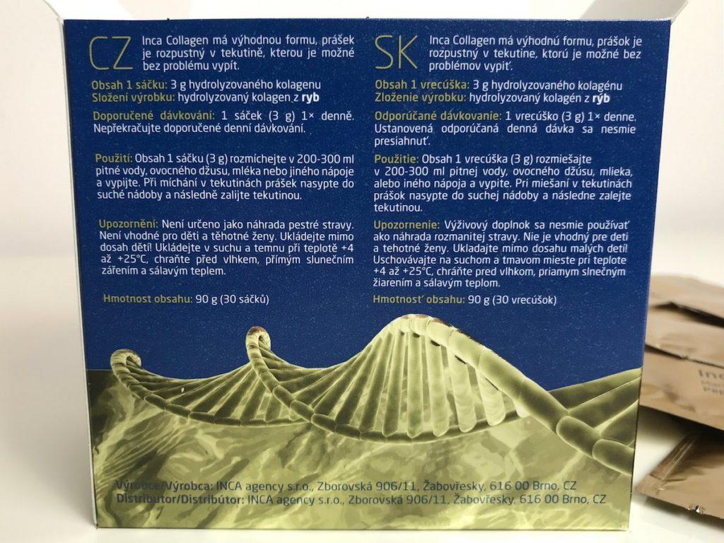 Inca Collagen - balenie, recenzia + Vitamín C
