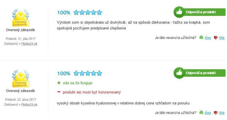 HyalurMed skúsenosti a hodnotenia
