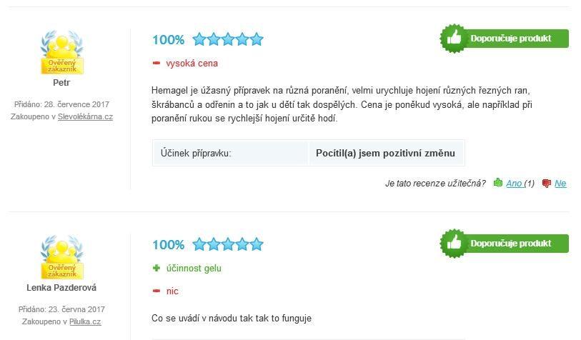 UniGel Apotex (Hemagel) skúsenosti