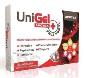 Unigel Apotex Prvá pomoc (gél + krycie fólie)