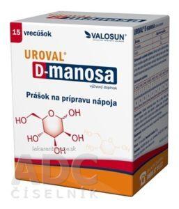 Uroval D-manosa prášok na prípravu nápoja 15 vrecúšok