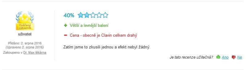 Clavin Original skúsenosti