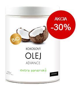 Kokosový olej Advance extra panenský recenzia