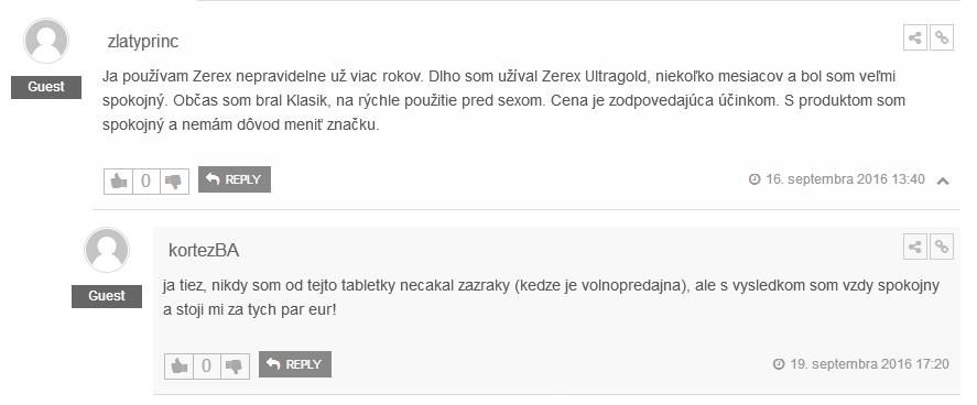 Zerex skúsenosti