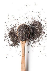 Chia semiačka na lyžičke