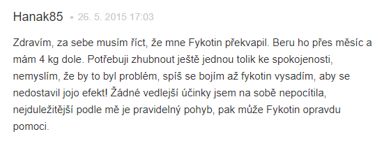 Fykotin hodnotenie