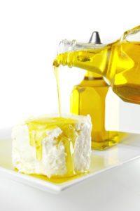 Ľanový olej s tvarohom