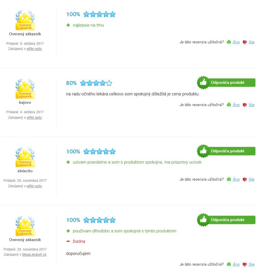 Ocutein Brillant recenzia
