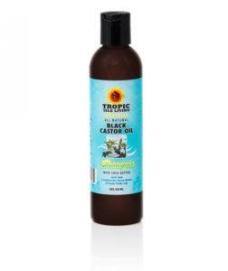Šampón s čiernym ricínovým olejom