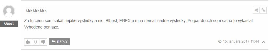 Erex 24 negatívna skúsenosť