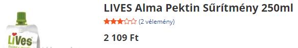 LiVes Pectin originálna cena