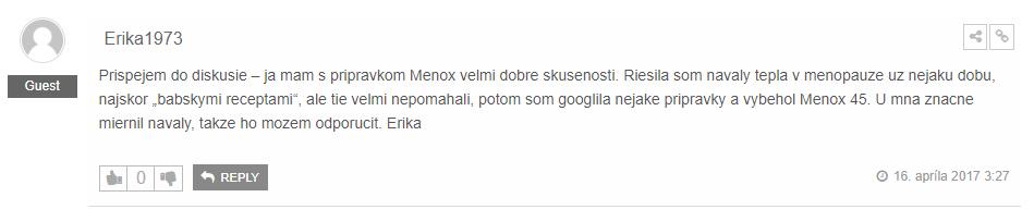 Menox 45 hodnotenie