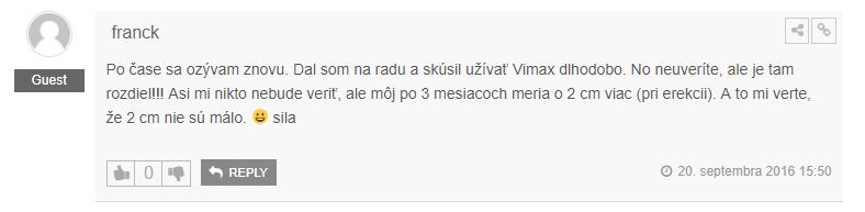 Vimax skúsenosti užívateľa