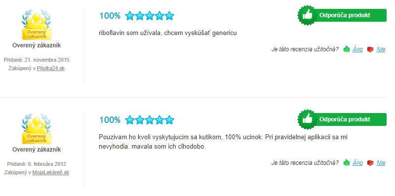 Vitamín B2 GENERICA Riboflavín recenzia