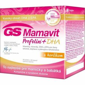 GS Mamavit Prefolin+DHA (30 tabliet + 30 kapsúl)