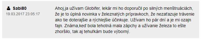 Globifer Forte skúsenosti
