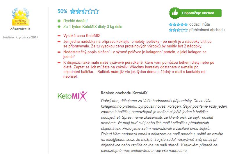Ketomix skúsenosti užívateľky