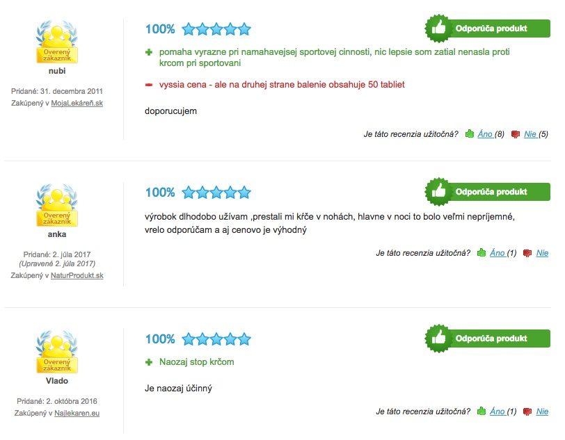 Užívateľská recenzia na Stop kŕčom