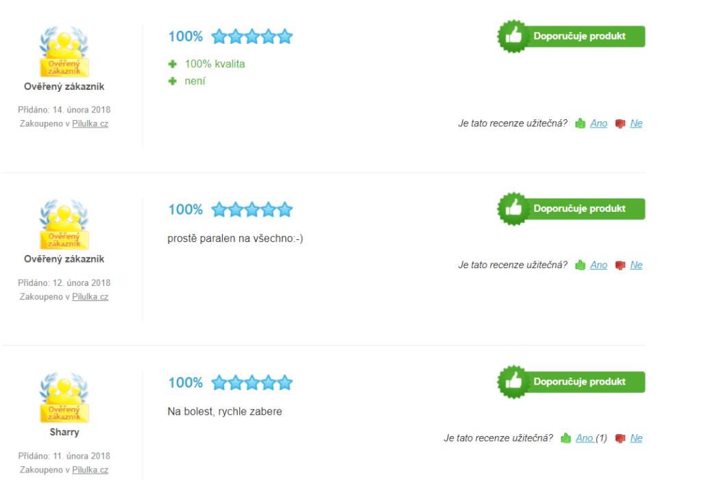 Hodnotenia českých užívateľov Paralen 500 - Heureka.cz