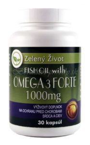 Fish oil with Omega-3 Forte 1000mg 30 kapsúl