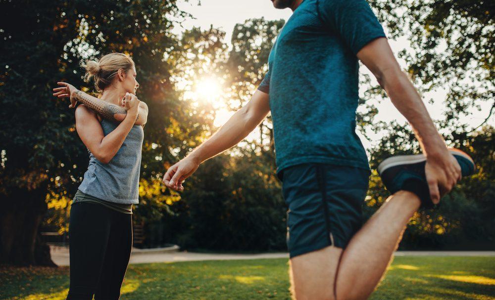Pred cvičením sa rozohrejte a rozcvičte