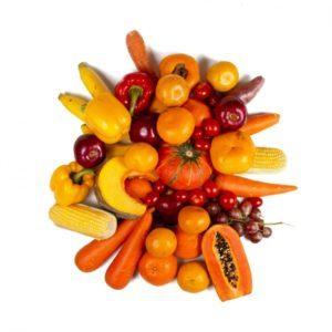 Betakarotén v zelenine a ovocí