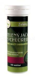 Zelený jačmeň s chlorellou – šumivé tablety, 10 tabliet