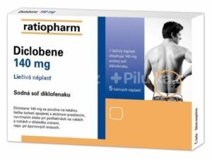 Diclobene 140 mg liečivá náplasť 5 ks
