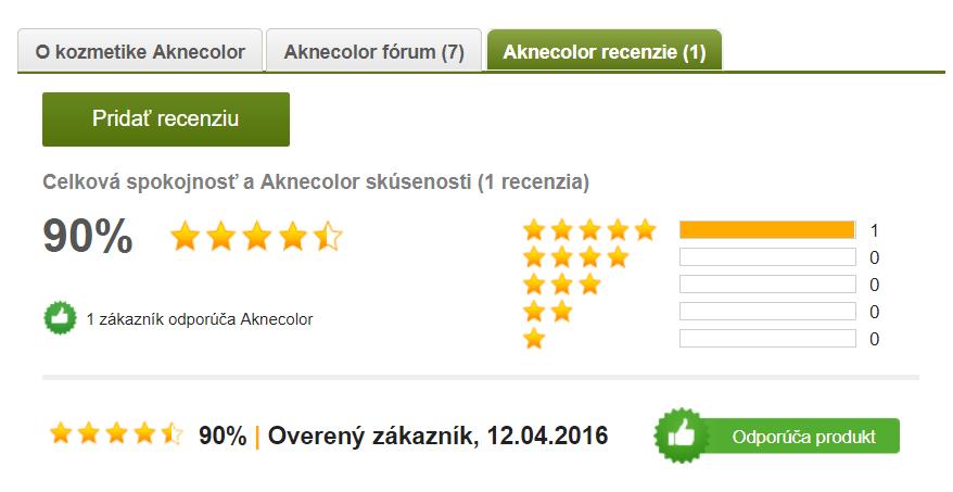 Recenzia na Aknecolor na Pilulka24.sk