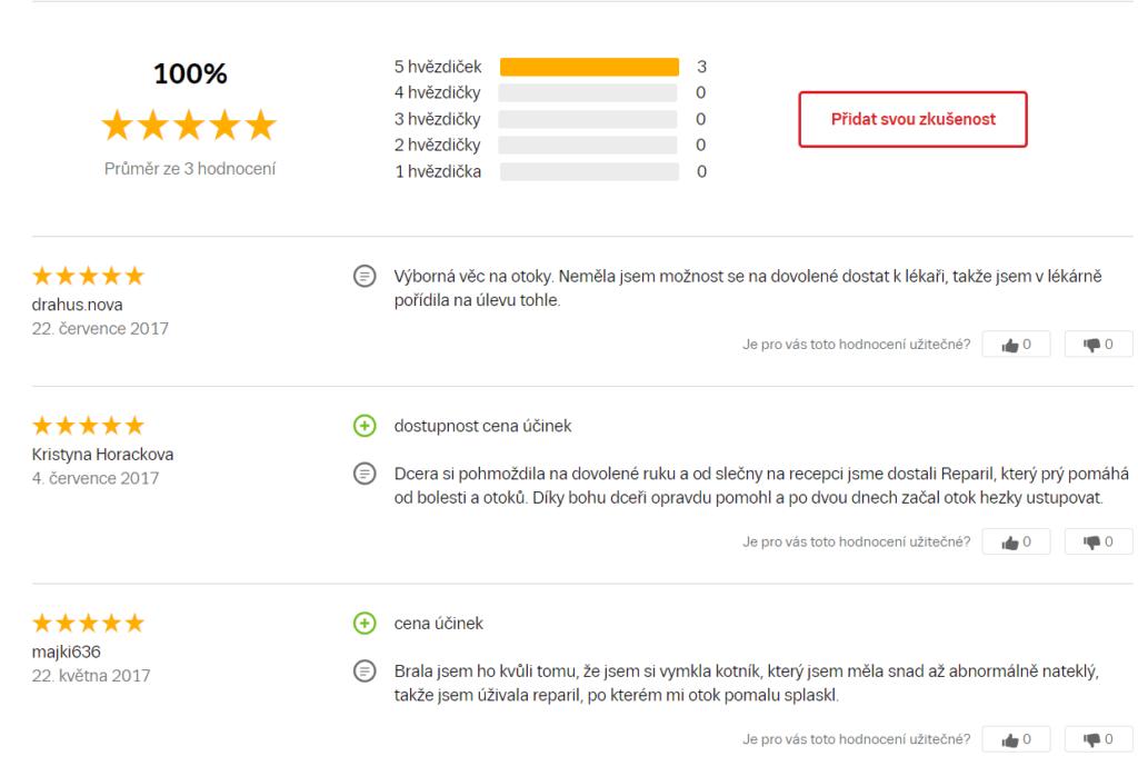 Recenzie Reparil Dragées na Zbozi.cz