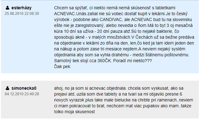 Acnevac a jeho dostupnosť na Slovensku - skúsenosť