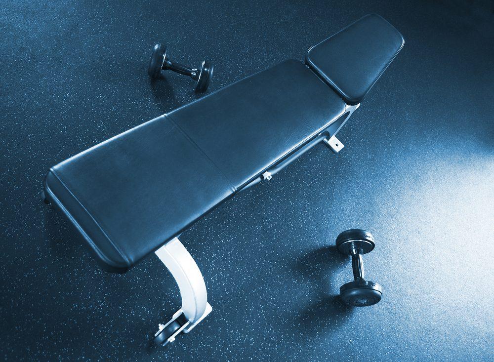Posilňovacia lavica na cvičenie