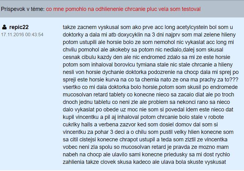 Mucosolvan Retard - fórum na Zdravie.sk