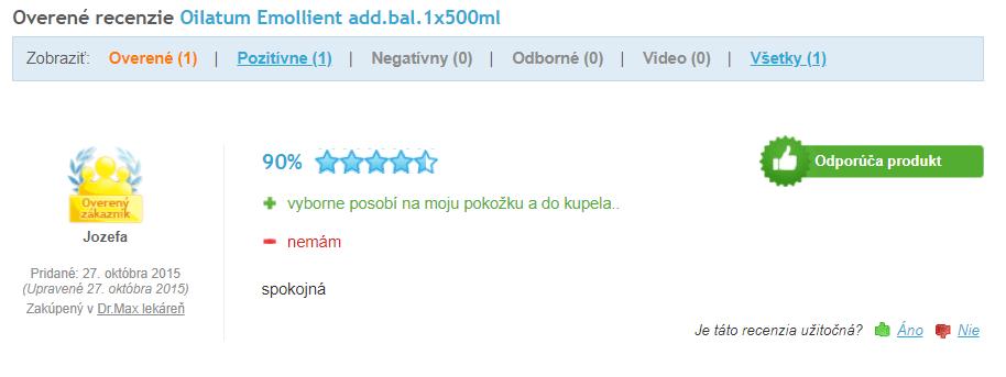 Oilatum Emollient - recenzie na Heuréke