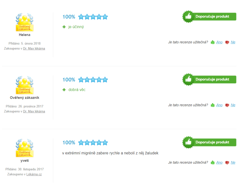 Panadol Ultra Rapid recenzie na Heuréke